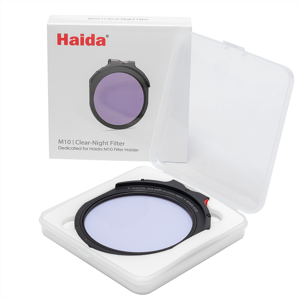 "Haida M10 round ""drop-in"" Clear Night filter in protective box"